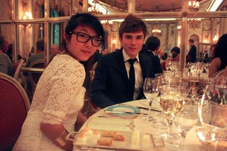 My friend Chu and I enjoying some very fine dining at The Ritz