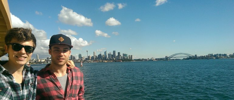 My flatmate Cristian and I exploring Sydney by ferry