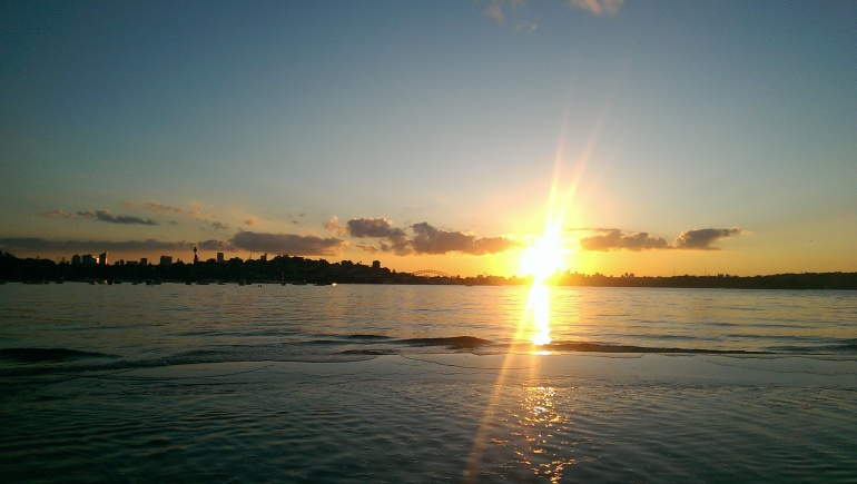 Sunset from Rose Bay