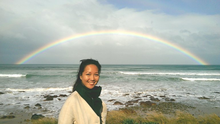 We were lucky enough to see a gorgeous double rainbow along the Great Ocean Road!