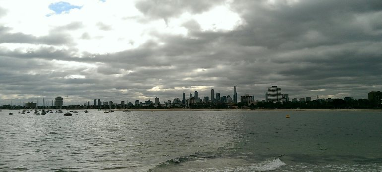 View of the CBD from St Kilda