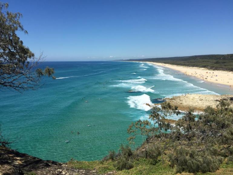 Main Beach on Stradbroke Island